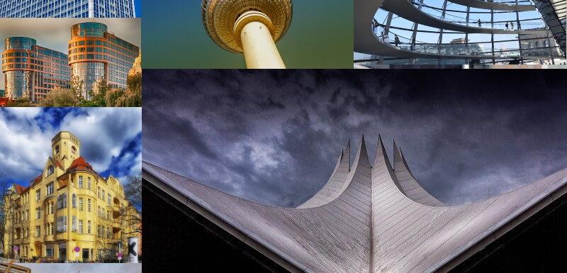 Eine Zusammenstellung verschiedener Bauwerke in Berlin