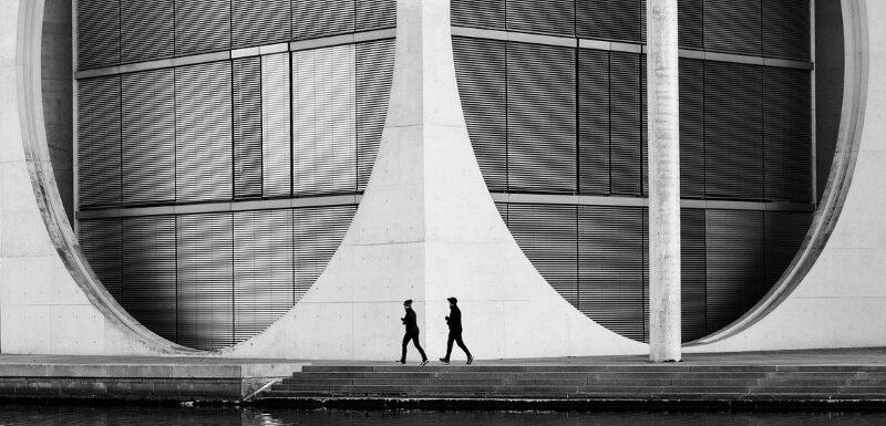 Moderne Architektur in Berlin kann abwechslungsreich sein