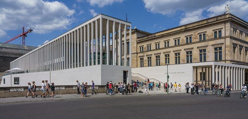 Die James-Simon-Galerie am Neuen Museum auf der Museumsinsel