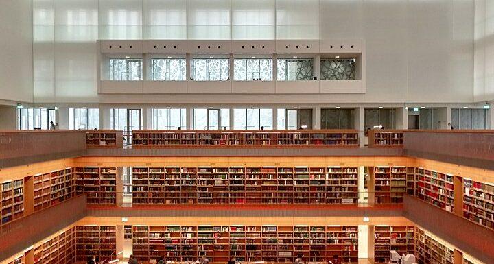 Die neue Bibliothek im Kuppelsaal der Staatsbibliothek unter den Linden in Berlin.