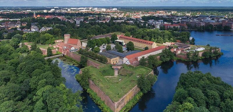 Luftbild der Zitadelle in Spandau